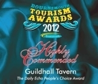 Bournemouth Tourism Awards 2012 Peoples Choice Highly Commended