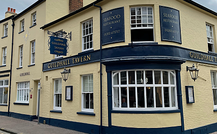 exterior of the Guildhall Tavern