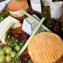 Selection of matured French Cheeses
