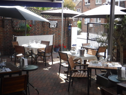 French Restaurant with Outdoor Dining in Dorset